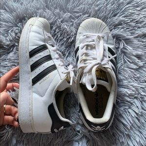 adidas Shoes - Adidas superstar white/black